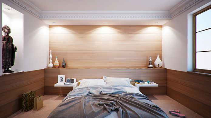 Bedroom, furniture, interior, lighting