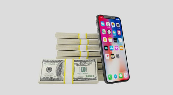 Iphone Mobile Smartphone Money Dollars